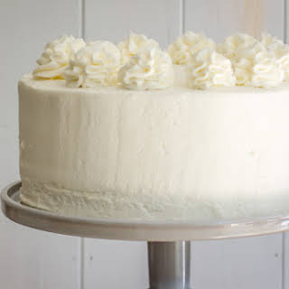 Champagne Layer Cake With Champagne Buttercream Frosting.