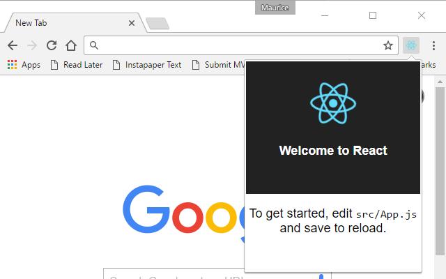Demo React-Chrome extension