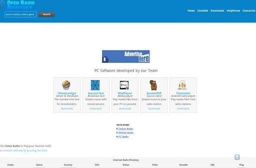 Open radio directory - tunein