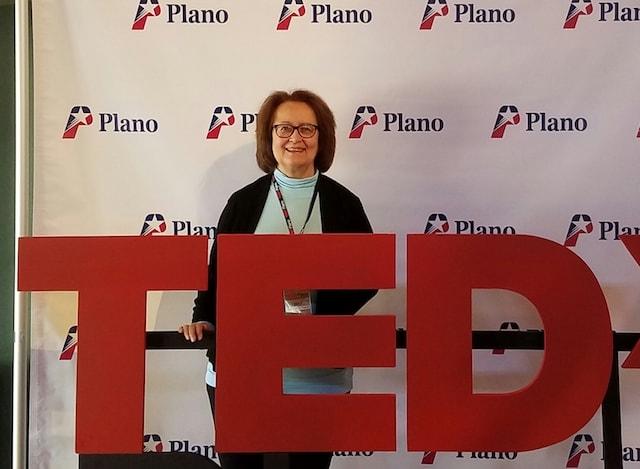 Sue at TEDx Plano