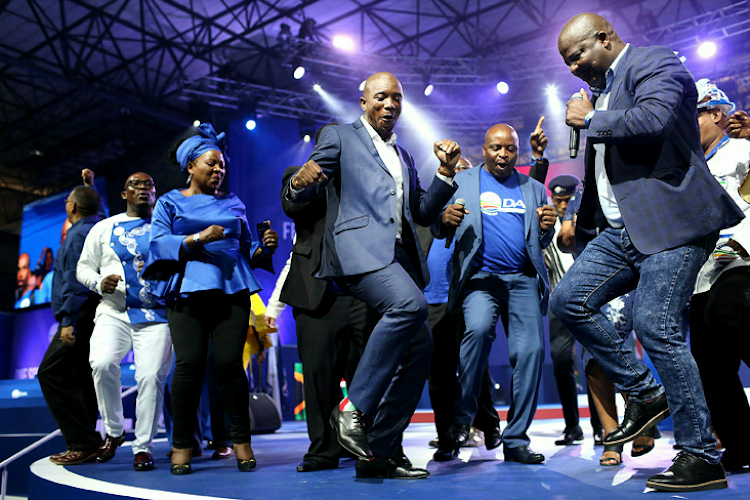 DA leader Mmusi Maine dancing at the DA National Congress