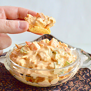 Easy Chicken Taco Dip.