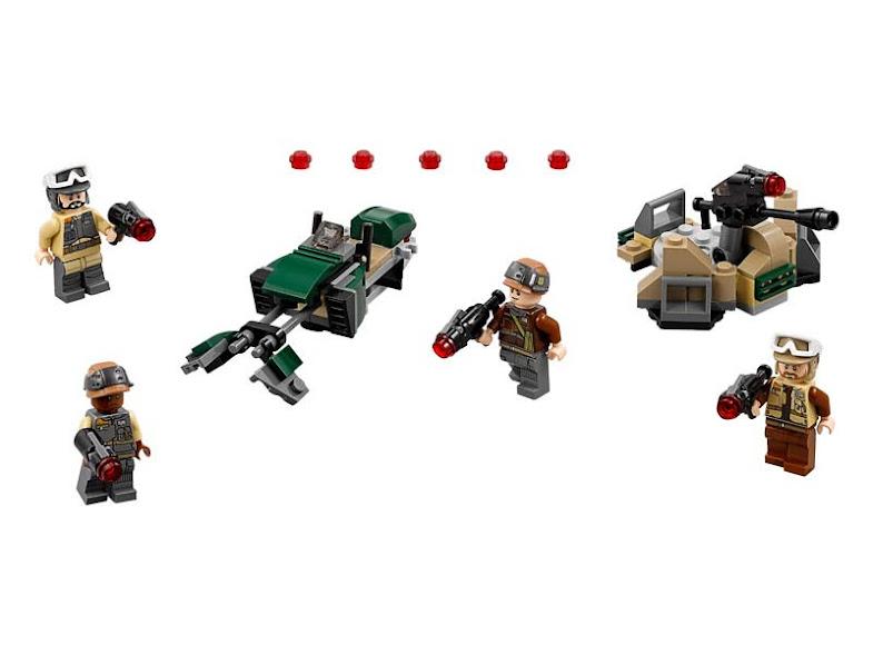 Contenido de Lego® 75164 Pack de Combate con Soldados Rebeldes