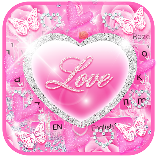 Pink Love Princes Keyboard Theme