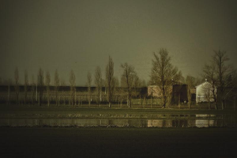 Alluvione nella bassa modenese di Nefti-Monica