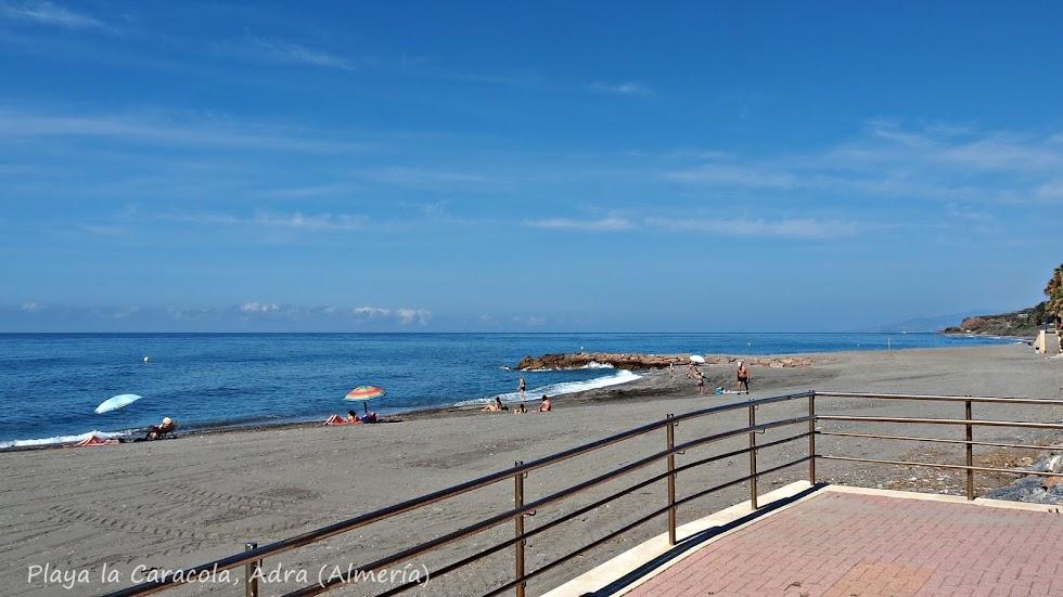 Playa la Caracola, de Adra.