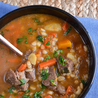 Beef and Vegetable Barley Soup.