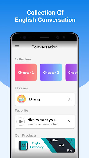 Screenshot for English Conversation Practice - Cudu in Hong Kong Play Store