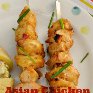 Asian Chicken Kebabs.