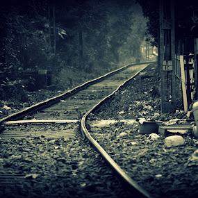 Emptiness by Avishak Dhar - Black & White Landscapes