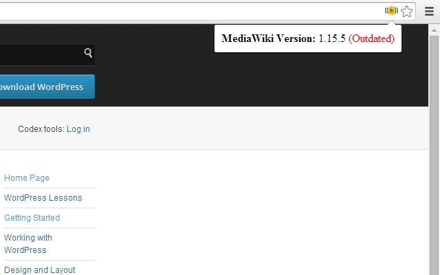 Version Check for MediaWiki
