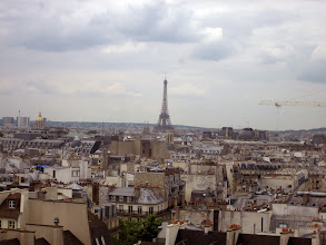 Photo: View of Paris with Eiffel tower from top of the Pompidou Center