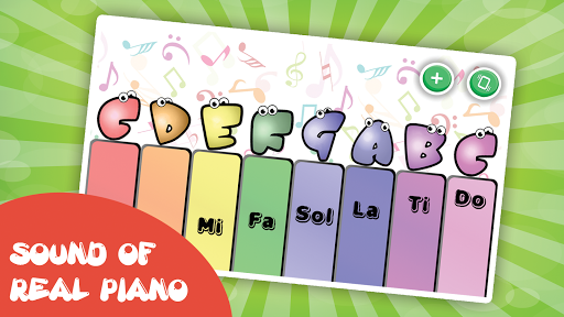 Kids piano screenshot