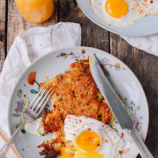 "Crispy ""Sichuan"" Hashbrowns and Eggs."