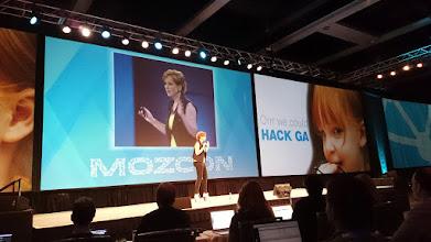 Photo: #mozcon +Annie Cushingis speaking about data visualization using Excel and Google Analytics.