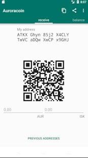 Auroracoin - náhled