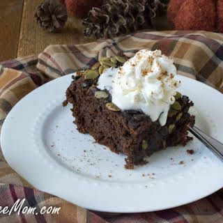 Crock Pot Gluten-Free Chocolate Pumpkin Cake.