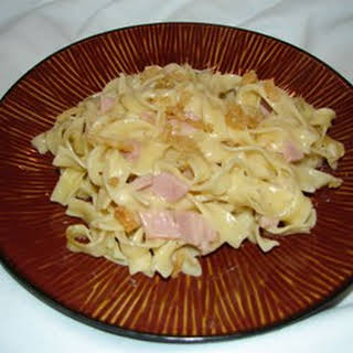 Easy Ham and Noodles.