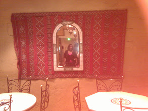 Photo: My Nieces' reflection is so nice in the mirror at the Moroccan Cafe in Epcot.