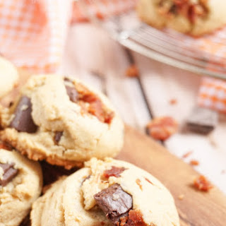 Peanut Butter & Bacon Chocolate Chunk Pudding Cookies.