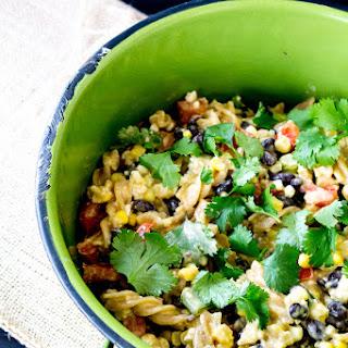 Warm Black Bean Corn Pasta Salad.