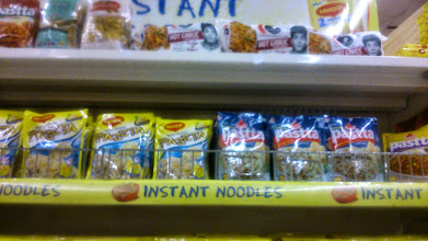 Photo: Supermarket series volume 3; PAZZTA (Maggi) and PASTTA (Bambino), both are instant pasta products having very similar names, lined side-by-side. A direct challenge by either party? 29th July updated (日本語はこちら) -http://jp.asksiddhi.in/daily_detail.php?id=616