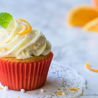 Orange Cupcakes with Cream Cheese Frosting.