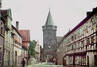 Photo: Der Hausmannsturm gesehen vom Harsleber-Tor-Straße