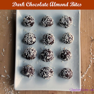 Dark Chocolate Almond Bites