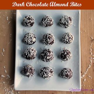 Dark Chocolate Almond Bites.