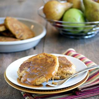 Fluffy Sweet Potato and Pear Pancakes (vegan, gluten-free, anti-candida).