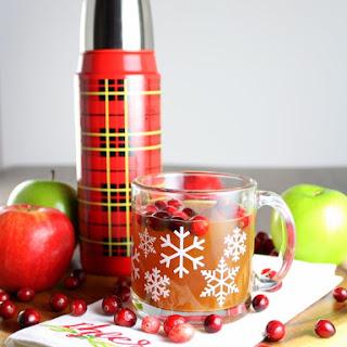 Warm Cranberry Apple Hard Cider.