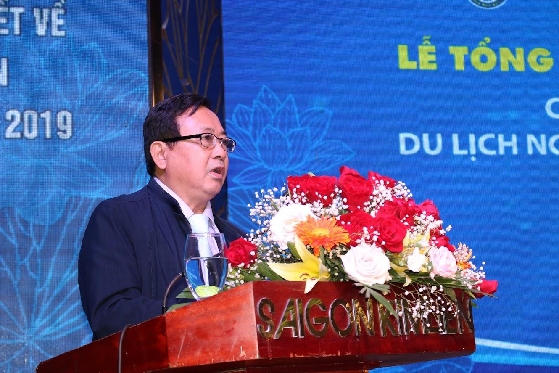 Ông Trần Duy Ngoãn, Chủ tich Hội Nhà báo tính Nghệ An tổng kết giải báo chí viết về du lịch