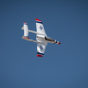 by Fred Prince - Transportation Airplanes ( twin boom, rc model, maloof airpark, jet, albuquerque, new mexico )