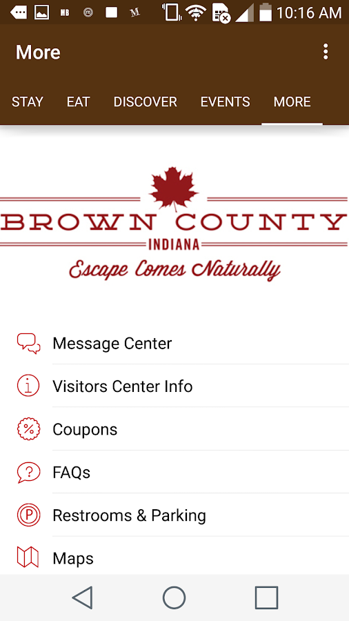 Discover Brown County, Indiana- screenshot