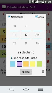 Calendario 2017 Perú AdFree screenshot 2