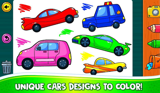 ud83dude97 Learn Coloring & Drawing Car Games for Kids  ud83cudfa8 4.0 screenshots 3