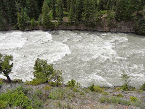 Photo: die Bow River Rapids bei Banff