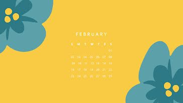 Wildflower Monthly - Monthly Calendar template