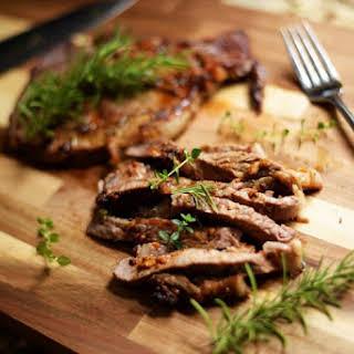 Ribeye Steak (Rosemary garlic marinade).