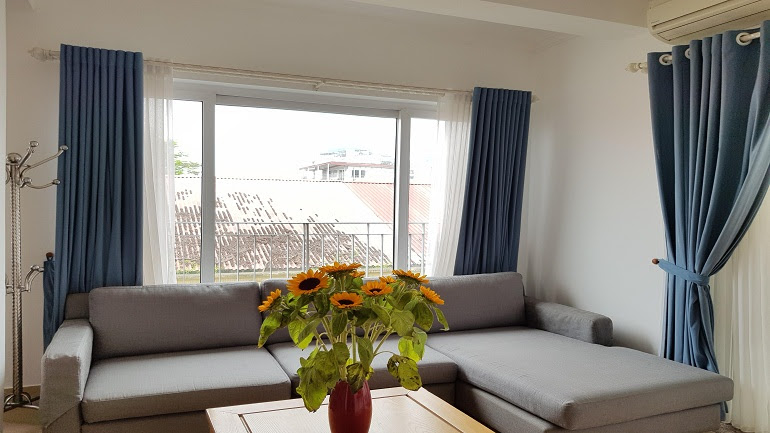 Shiny 1 – bedroom apartment with balcony in Tay Ho street, Tay Ho district for rent