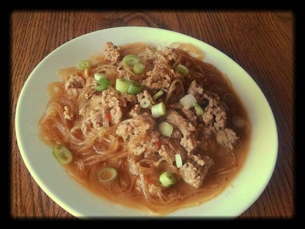 Noodles In Spicy Chinese Peanut Pork Sauce Recipe