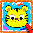 Animal Sounds for babies & Coloring book for kids icon