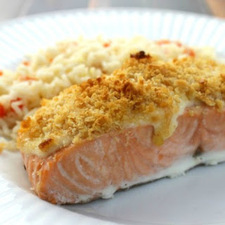 Parmesan Crusted Salmon.