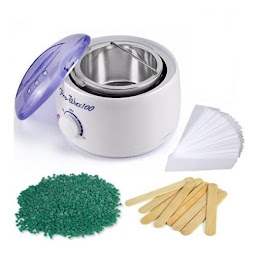 Kit epilare: Incalzitor de ceara + Benzi epilat + Spatule + Ceara elastica