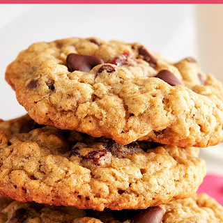 Strawberry Chocolate Chip Oatmeal Cookies.