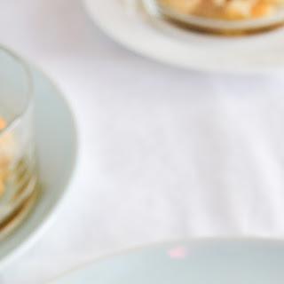 Apple Pandowdy with Tangerine Cream.