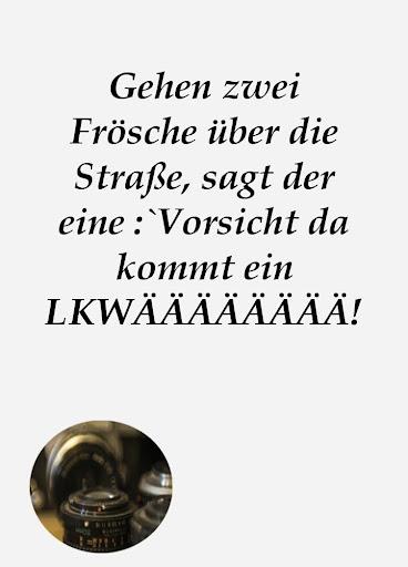 Status messages in German