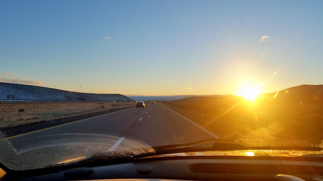 Sunset along I-15 north of Cedar City