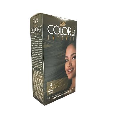 Tinte Slik Color Efect Intense Kit 3 Castano Oscuro